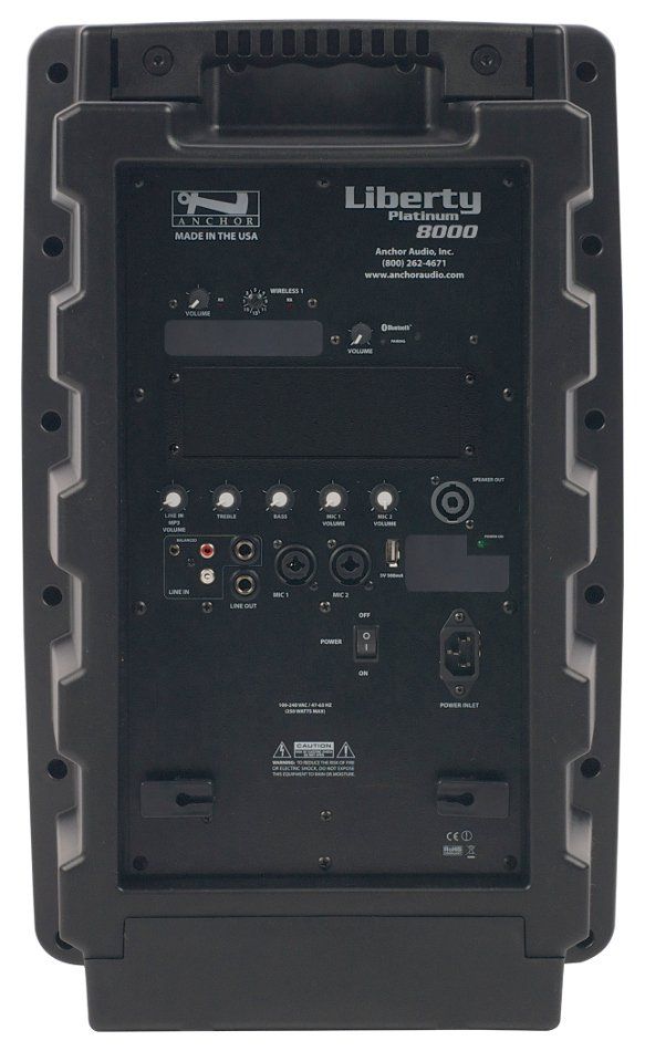Liberty Platinum Portable PA System with Onboard Bluetooth and (1) 16-Channel UHF Receiver, AC Only Model