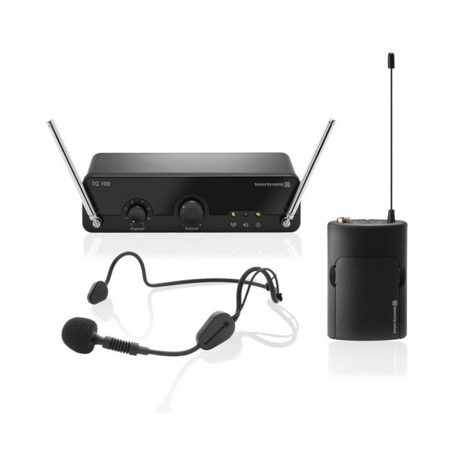 8-Channel VHF Wireless Headset Microphone System, 174 - 184 MHz