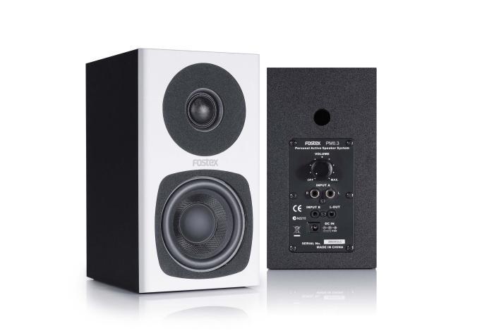 "Pair of 3"" Studio Monitors, White"
