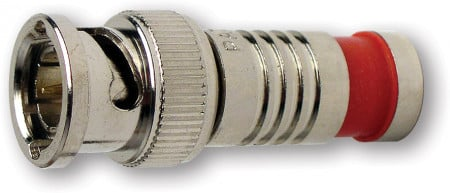 Platinum Tools 18240  BNC RGB Connector in Nickel 18240