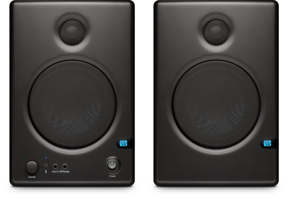 "Pair of 4.5"" Active Studio Monitors with Bluetooth Connectivity"