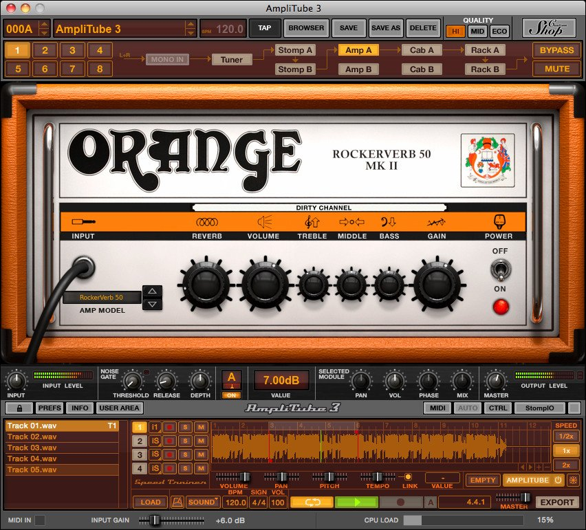 Orange Amplifier Emulation Plugin