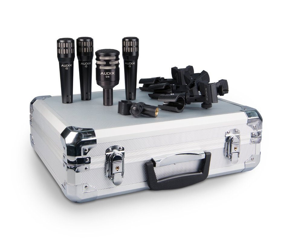 4-Piece Drum Microphone Package with Road Case