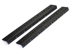 Lowell LLR-1618-B  16U Laminated Rear Rails for LLR Series Racks LLR-1618-B