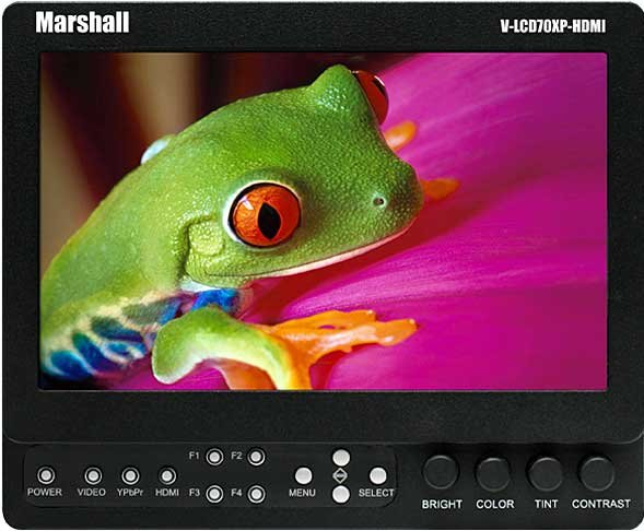 """7"""" Portable Field LCD Monitor (with HDMI Input, with V-Clip Battery Mount)"""