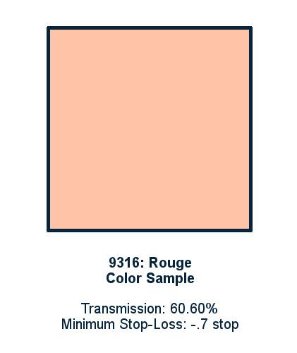 Rouge 30cm x 30cm LED Light Filter