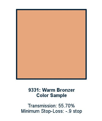 Warm Bronzer 30cm x 30cm LED Light Filter