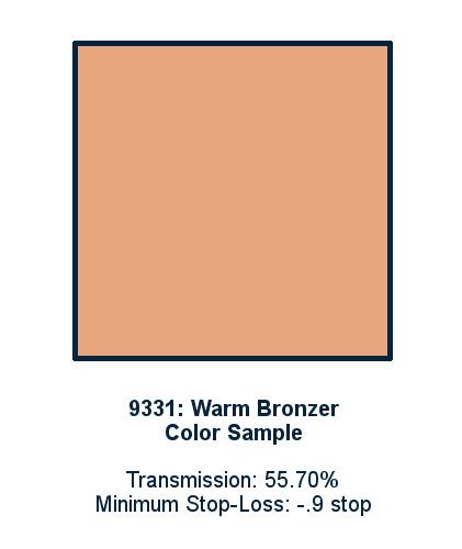 Warm Bronzer 60cm x 60cm LED Light Filter