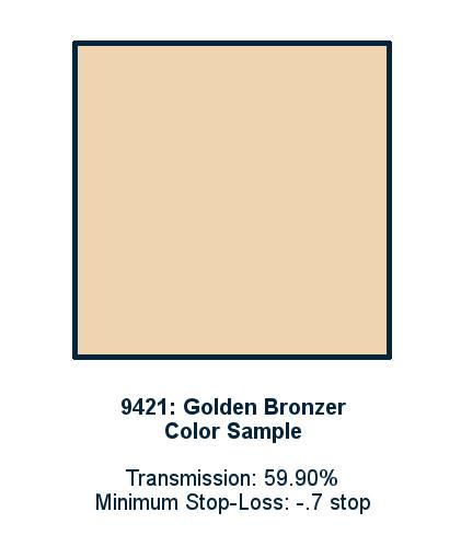 Golden Bronzer 30cm x 30cm LED Light Filter