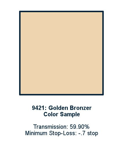 Golden Bronzer 60cm x 60cm LED Light Filter