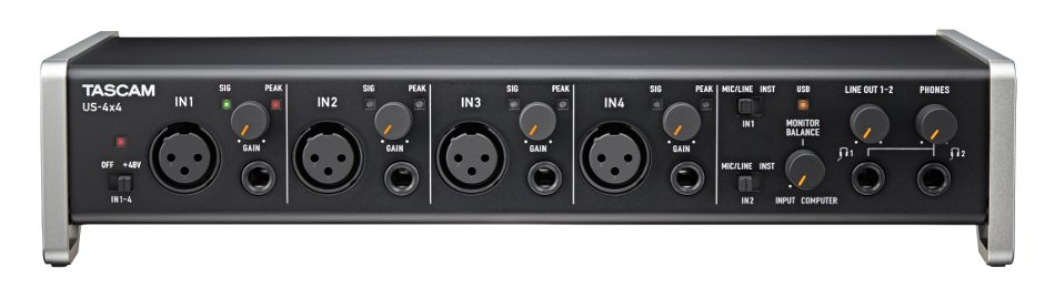 4 In/4 Out USB 2.0 Audio/MIDI Interface with HDDA Microphone Preamplifiers and iOS Compatibility