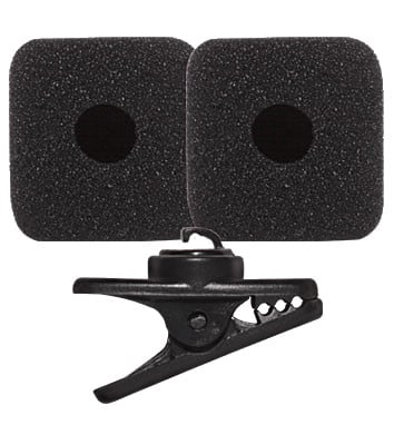 Replacement Kit with Clip & 2 Windscreens for PGA31 Headset Microphone