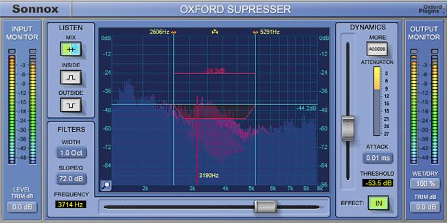 Sonnox Oxford SuprEsser DS DeEssing AAX DSP Plugin OXFORD-SUPRESSER-DS