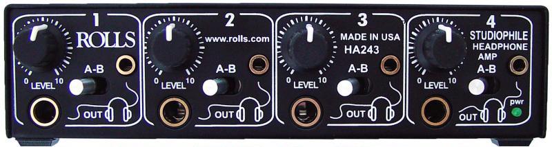 Rolls HA243  4-Channel Headphone Amplifier HA243