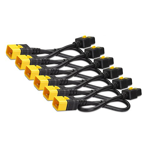 Power Cord Kit with 6 Locking IEC C19 to C20 Cables, 4 ft Length