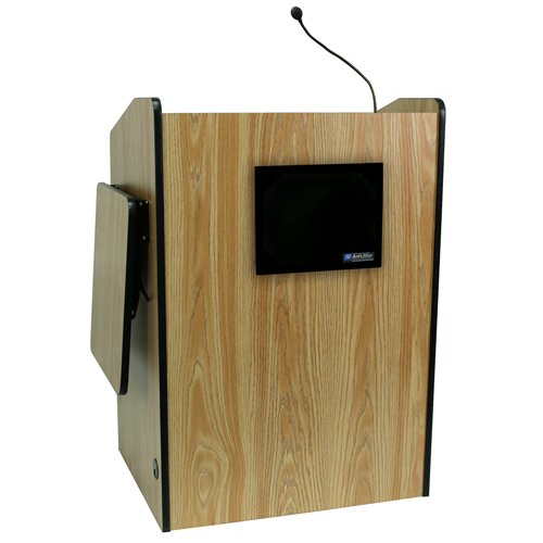 Multimedia Presentation Podium with Wired Sound System