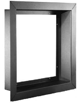 "Whirlwind WFFD12X1KIT  13""x13""x1"" Black Flush Mount Wall Frame Kit with Door, Insert Not Included WFFD12X1KIT"