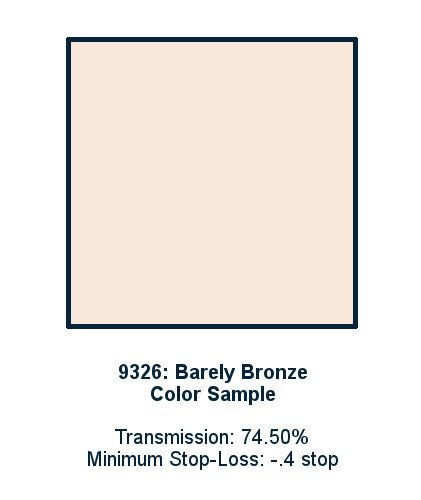 Barely Bronze 60cm x 60cm LED Light Filter
