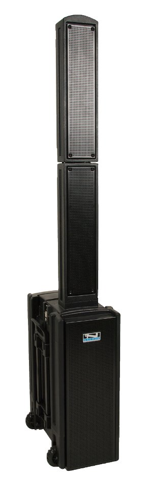 Portable Line Array System with (1) Wireless Receiver, Choice of Transmitter and Onboard Bluetooth