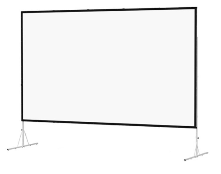 8' x 14' Black Frame Fast-Fold Deluxe Screen with Heavy Duty Legs