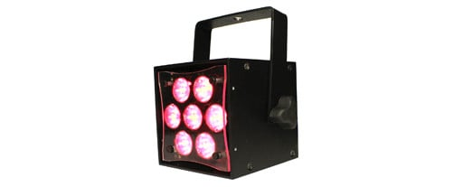 LED Spot/Profile RGBW Light in Black with Power Cord
