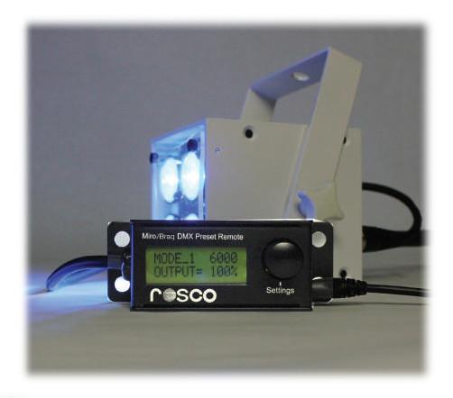Miro or Braq Cube DMX Preset Remote