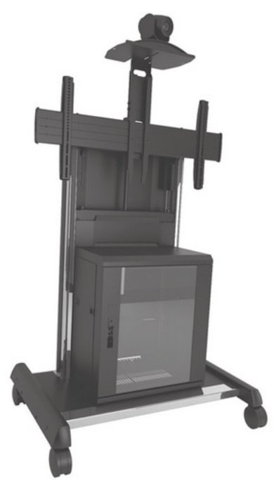 Chief Manufacturing XVAUB X-Large Height Adjustable FUSION Video Conferencing Cart XVAUB