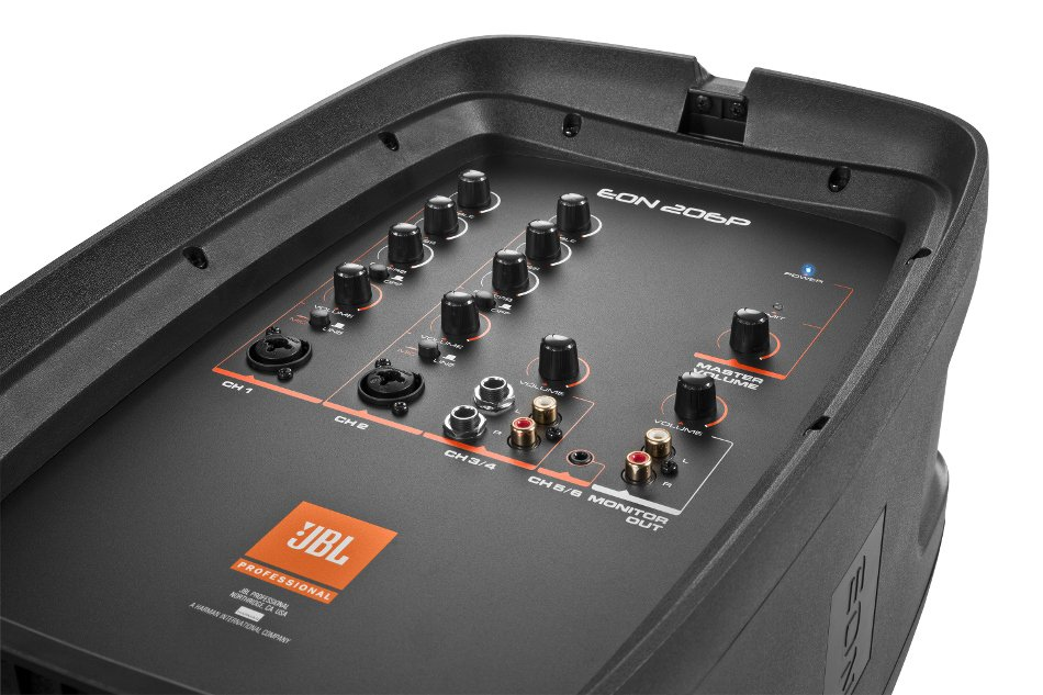 """6-Channel Portable PA System with (2) 6.5"""" Speakers and Detachable Powered Mixer"""