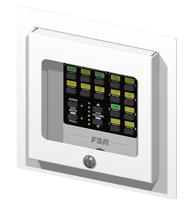2-Gang Recessed Covered Wall Box with Window