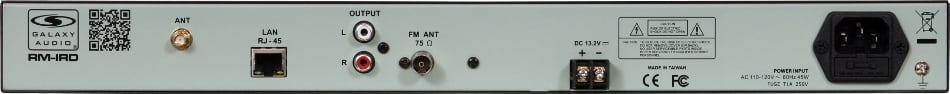 Rackmount Internet Radio and Media Playback Unit