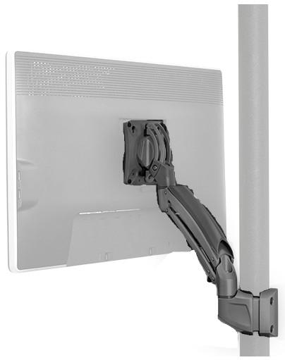 Chief Manufacturing K1P110B Kontour K1P Dynamic Pole Mount for Single Display in Black K1P110B