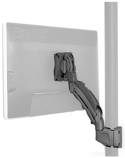 Kontour K1P Dynamic Pole Mount for Single Display in Black