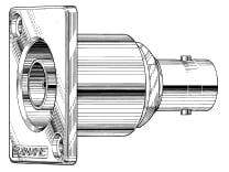 Rectangular Double Ended BNC Flush Mount Connector