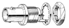 Circular BNC to Solder panel connector