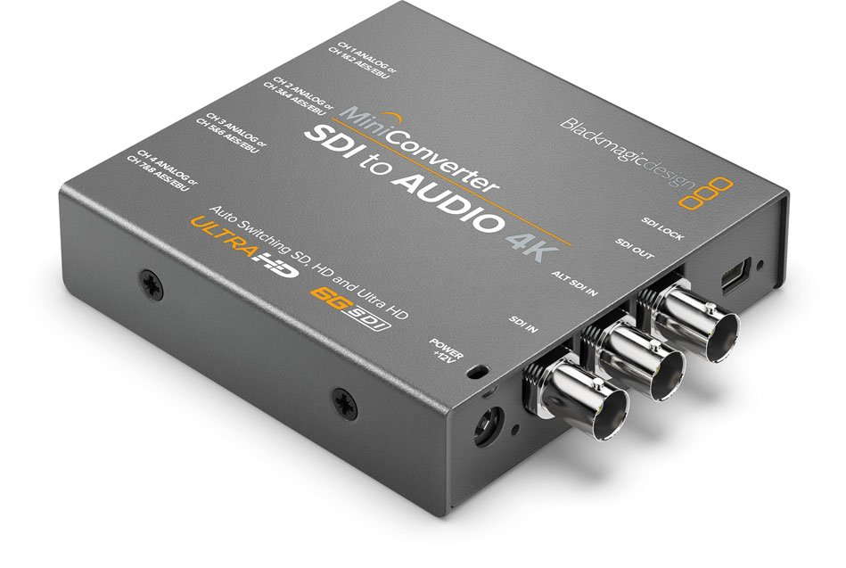 Blackmagic Design CONVMCSAUD4K Mini Converter SDI to Audio 4K CONVMCSAUD4K