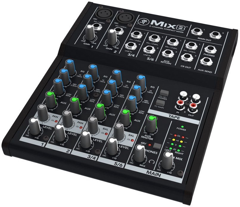 8 Channel Compact Mixer