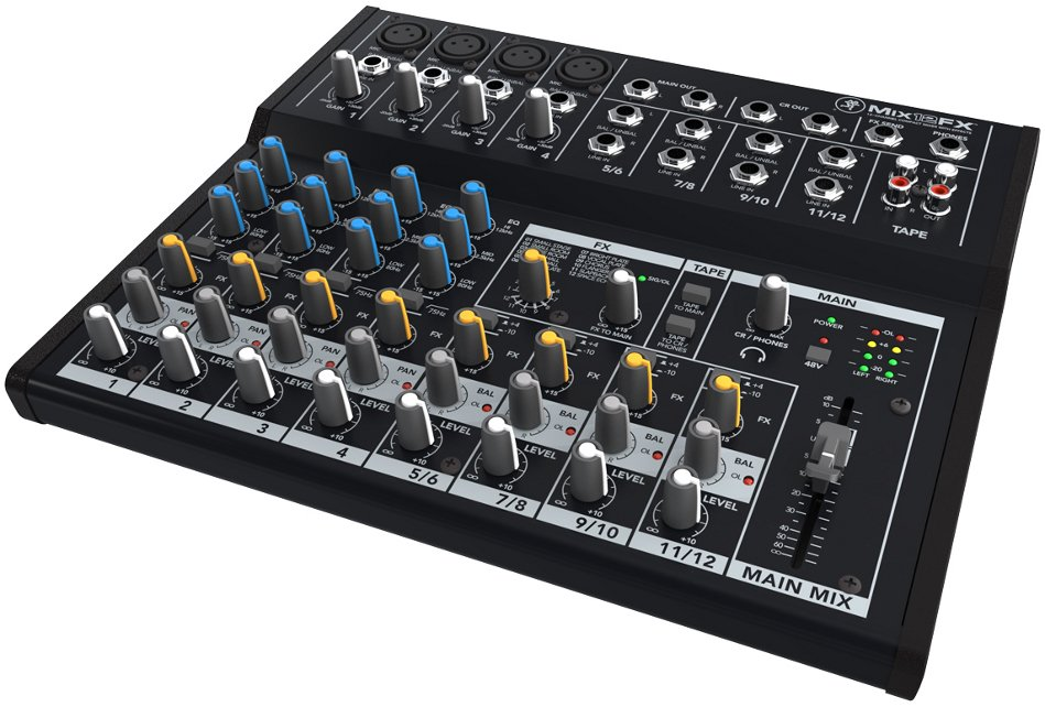 12 Channel Compact Mixer with Effects
