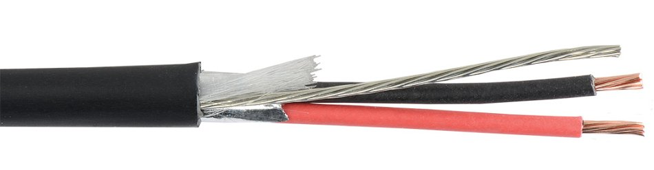 1000 ft 22 AWG Single Pair Audio and Control Shielded Plenum Rated Cable with White Jacket