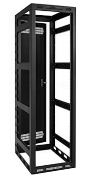 "Open Frame 44RU 27"" Deep Gangable Rack Cabinet"