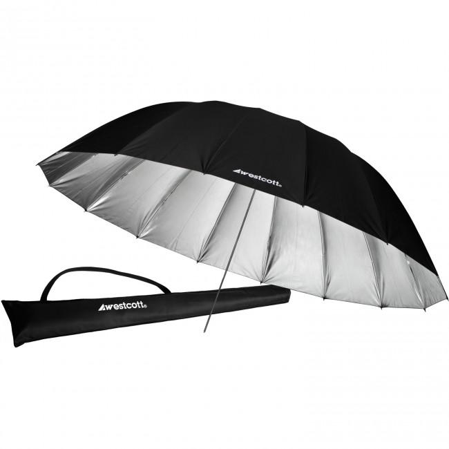 7 ft Silver Parabolic Umbrella