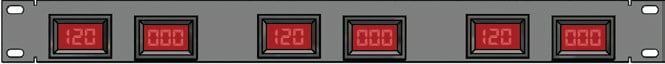 1RU 3-Phase Volt & Amp PowerRACK Metering Panel