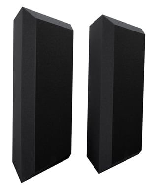 "Ultimate Acoustics UA-BTBV 1 Pair of 24"" H Beveled Corner Bass Traps with Perforated Vinyl Coating UA-BTBVG"