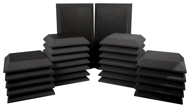 Ultimate Acoustics UA-KIT-SB3 26-Piece Studio Bundle III - 2 Corner Bass Traps, 12 Beveled Wall Panels, 12 Beveled Wall Panels with Vinyl Coating UA-KIT-SB3G