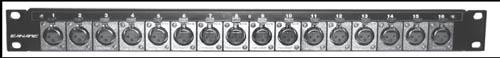 Panel with 8-XLRF-3, 8-XLRM-3