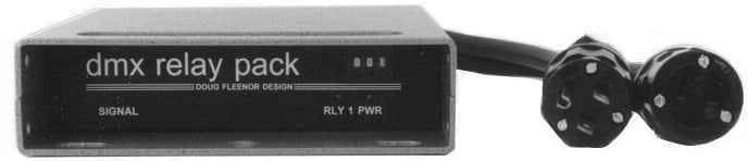 2-Pole Single Channel DMX512-Controlled Relay Pack