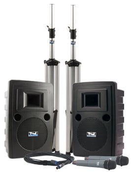Liberty DUAL Deluxe Package with 2 HBM-TA4F Headband Microphones