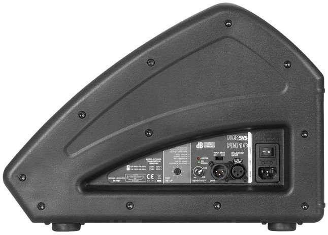 "200W 10"" 2-Way Powered Speaker Wedge"