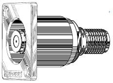 F-Jack to F-Jack flush panel connector
