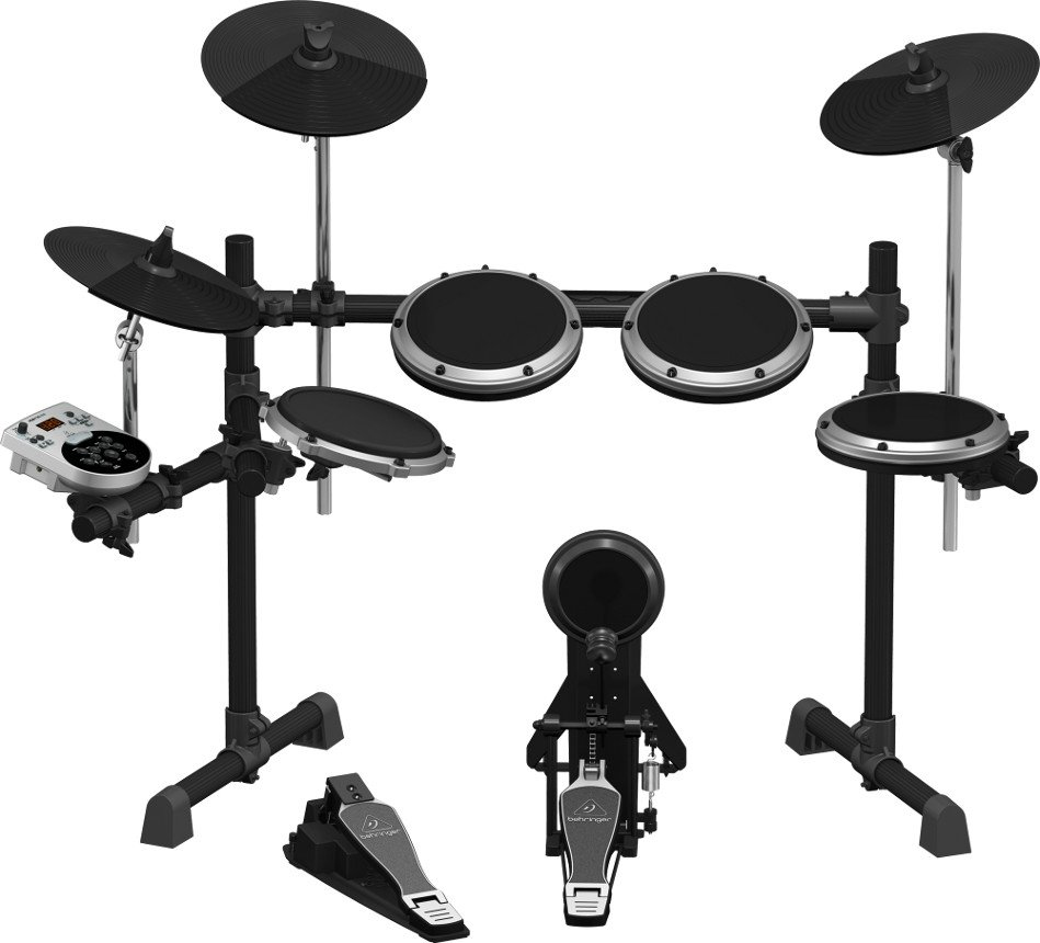 8-Piece Electronic Drum Set with USB Interface
