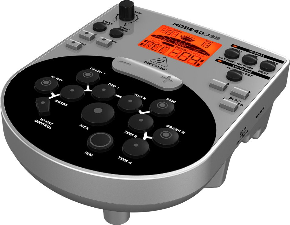 8-Piece Electronic Drum Set with USB/MIDI Interface